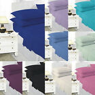 All Sizes Plain Dyed Fitted Sheets Poly Cotton Single 4FT Double King Super King