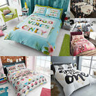 Stylish Printed Polycotton Duvet Cover Sets Double Single Super King Pillowcases