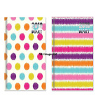 2018 Slim Long Size Diary Week To View Strips Spots Patterned Design Hardback