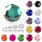 50/72/100/150pcs Loose Faceted Crystal Beads Round 3/6/8/10/12mm Jewelry Making