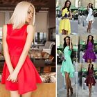 Vintage Women Bodycon Sleeveless Casual Evening Party Cocktail Short Mini Dress