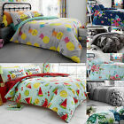 Printed Duvet Cover with Pillow Case Quilt Cover Bedding Set Single Double King