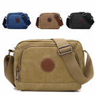 Men Crossbody Messenger Bag Casual Vintage Canvas Over Shoulder Side Bag EB1