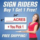 pro rider golf trolley review - ACRES____ Sign Rider + You Pick 1 Extra Sign 6