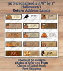 Colourful Cute 30 Personalized HALLOWEEN 1  FALL Address Labels Pumpkins Crows $3.79 USD on eBay
