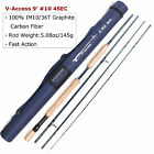 Maxcatch 3/4/5/6/7/8/9/10/12WT Fast Action Fly Fishing Rod Graphite IM10 & Case