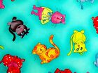 Loralie Cool Cats Fabric Tossed Turquoise Quilting 100% Cotton BTHY or BTY