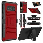 Hard Hybrid Case Cover Outer Box Clip Holster Stand For Samsung Galaxy Note 8
