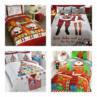 SANTA FATHER CHRISTMAS TREE BEDDING DUVET COVER SNOWMAN REINDEER XMAS