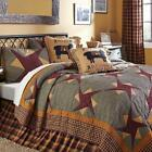 6pc FOLKWAYS PRIMITIVE FARMHOUSE QUILT SHAMS SKIRT PILLOWS BED SET VHC BRANDS