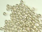 PREMIUM SILVER BRASS BEADS FOR FLY TYING - 8 SIZES TO PICK FROM - 100 COUNT