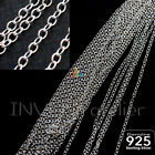 925 STERLING SILVER 1.5mm CONTINUOUS ROUND CHAIN For Jewellery Making 012