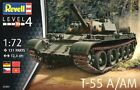 Revell 1/72th Scale Rusian T-55A Tank Plastic Model Kit 3304 New In Box!