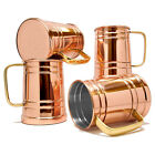 4pcs Stainless Steel Moscow Mule Mug Cup Copper Plated Beers Wine Tea Cocktail