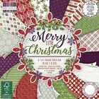 "DOVECRAFT CHRISTMAS PAPERS 6"" x 6"" - PACK OF 12 SHEETS SELECTION OF DESIGNS"