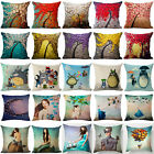 Vintage 3D Oil Tree Pillow Case Cotton Linen Sofa Car Cushio