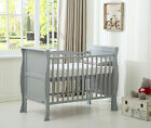 MCC Solid Wooden Cot bed Savannah Sleigh Cotbed &amp; Water Repellent Mattress <br/> Water repellent mattress Made In UK✔ Height Adjustable✔