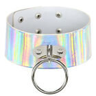 4Colors Large Gothic O Ring Choker Sexy Bridal Collar Neclace Shiny Leather