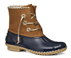 NIB Jack Rogers Women's Chloe Natural Rubber Duck Rain Boots in Midnight