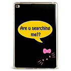 Cute Hello kitty Face Black Soft Silicone TPU Case Cover For Samsung iPad A08D98