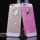 Bling Crystal Circle Logo Hard  Phone Case Cover for iPhone 6 6s 7 Plus 5S SE