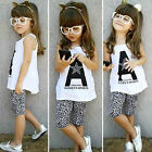 Kid Baby Toddler Girl T-shirt Top Bottoms Pants Dress Summer Outfits Clothes Set