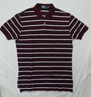 NWT Ralph Lauren Men's Polo Shirt Mesh Classic Fit Striped Short Sleeve