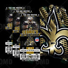 New Orleans Saints Ticket Style Sports Party Invites $35.0 USD on eBay