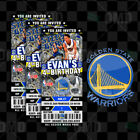 Custom Golden State Warriors Ticket Style Sports Party Invites on eBay