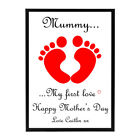 Personalised 'My First Love' Print Framed - Beautiful gift, Baby, Mother's Day