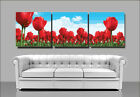 3 PARTS ACRYLIC PAINT BY NUMBER KIT ON CANVAS PAINTING SET Flowers BEAUTY CITY