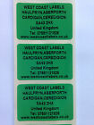 Rolls of Printed Personalised GREEN ADDRESS Labels - 38mm x 25mm