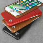 Pierre Cardin Genuine Leather Hard Back Case Cover For Apple iphone 8/8 Plus 5.5