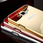 Aluminum Metal Mirror Case + PC Back Cover Skin For Samsung Galaxy Various Phone