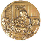 Portugal nativty Mary and Jesus angels CHRISTMAS bronze 90mm