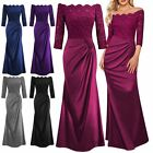 Women's Off Shoulder Formal Long Maxi Evening Party Cocktail Bridesmaid Dress