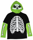 Tony Hawk Glowing Skeleton Boys Hoodie Shirt w/ Mask