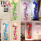 3D Flower Decal Vinyl Decor Art Home Wall Sticker Removable Mural Floral Pattern