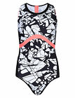 Marks & Spencers Black Mix Graphic Print Piped Sporty Swimsuit Size 14 BNWT