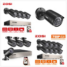 ZOSI 8CH 1080N DVR CCTV Outdoor Home 720P Security Camera System 1T HD + Gift