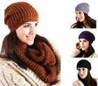 Ladies Knitted Slouch Winter Hat 4 Colours To Choose from