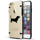 For Apple iPhone SE 5s 6 6s 7 8 Plus Slim Clear TPU Hard Case Cover Basset Hound