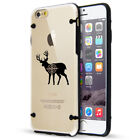 For Apple iPhone SE 5s 6 6s 7 8 Plus Clear TPU Hard Case Deer with Bullseye