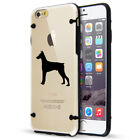 For Apple iPhone SE 5s 6 6s 7 8 Plus Slim Clear TPU Hard Case Cover Doberman