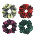 1X Elastic Hair Bands Scrunchie Ponytail Holder Hair Accessories Lot Check Print
