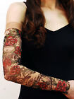 Wild Rose Unisex Single Tattoo Mesh Sleeve, Sheishe Red Rose, Tan