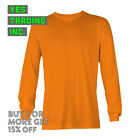 NEW MENS PLAIN LONG SLEEVE SHIRT SAFETY T SHIRT HIGH VISIBILITY SAFETY COLOR  image