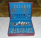 50pc 1847 Rogers Bros FIRST LOVE Silver Plate Flatware set in Chest ~Serves 8+