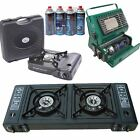 Portable Compact Camping Hiking Fishing Gas Heater Stove Cooker + Gas Refills