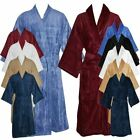 Adult Unisex Bathrobe Terry Towelling Shawl or kimono Dressing Gown 100% Cotton